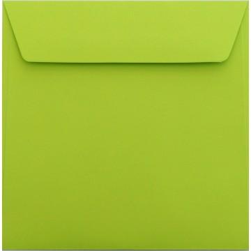 1 Briefumschlag 17 x 17 cm 170 x 170 mm Hell Grün Verschluss: Kuverts mit Haftstreifen