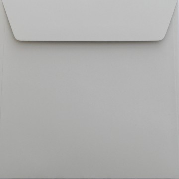 1 Briefumschlag 18 x 18 cm 180 x 180 mm Hell Grau Verschluss: Kuverts mit Haftstreifen