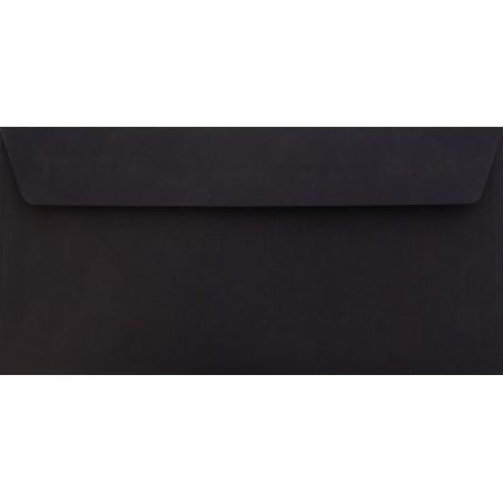 1 Briefumschlag Schwarz Din lang 11 x 22 cm mit Haftstreifen