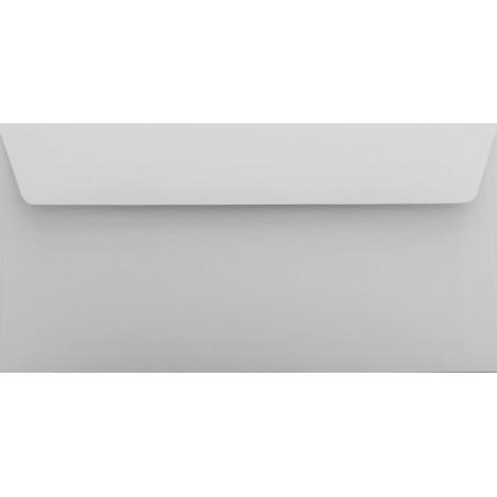 1 Briefumschlag Hell Grau Din lang 11 x 22 cm mit Haftstreifen
