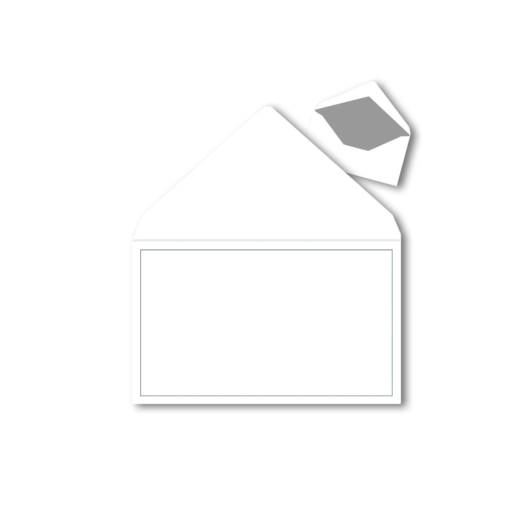 1 Trauerumschlag 120 x 191 mm Polar Weiß mit Grauen Rahmen für ...