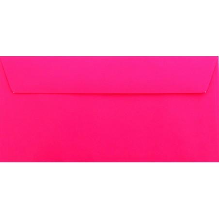 1 Briefumschlag Pink Din lang 11 x 22 cm mit Haftstreifen