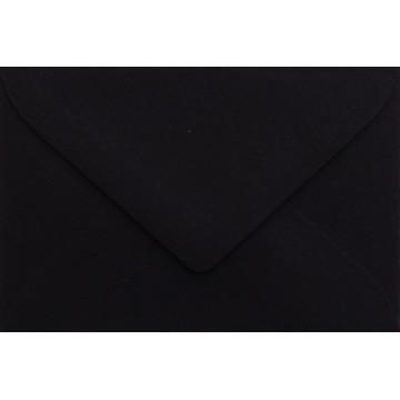 1 Briefumschlag Mini geeignet für Visitenkarten Schwarz 6 x 9 cm Verschluss-Technik: feuchtklebend