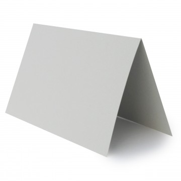 1 Tischkarte zum selbst Beschriften - Hell Grau Grammatur: 240 g/m² - 100 x 120 mm 10 x 12 cm