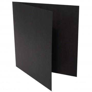 1 Quadratische Klappkarte zum selbst Beschriften Schwarz