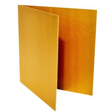 1 Quadratische Klappkarte zum selbst Beschriften Gold