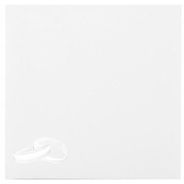 1 Hochzeit Ringe silber Briefumschlag 15,5 x 15,5 cm 155 x 155 mm Weiß Verschluss: feuchtklebend Grammatur: 120 g/m²