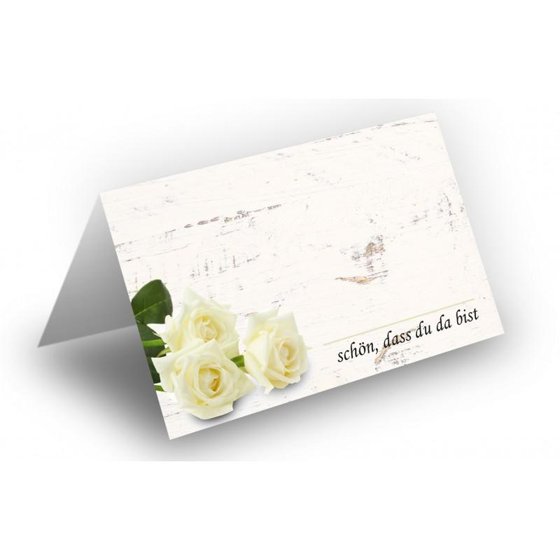 25 wundersch ne tischkarten rosenstrau wei holz hintergrund uv lack gl nzend f r hochzeit. Black Bedroom Furniture Sets. Home Design Ideas