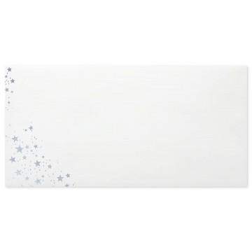 Briefumschläge Weihnachts- Din lang 11 x 22 cm mit Innendruck Silber prägung und Haftstreifen , Grammatur 80 g/m²