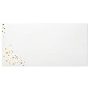 Briefumschläge Weihnachts- Din lang 11 x 22 cm mit Innendruck Goldprägung und Haftstreifen , Grammatur 80 g/m²