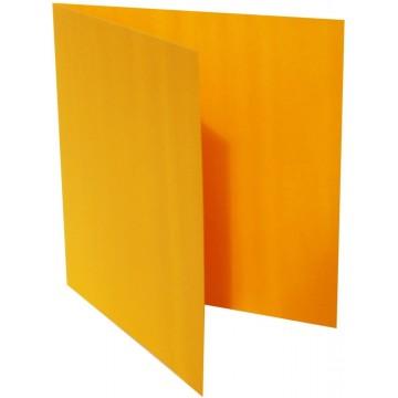 1-Quadratische Klappkarte zum selbst Beschriften in Orange von der Größe 135 x 135 mm 13,5 x 13,5 cm Grammatur: 300 g/m²