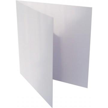 1-Quadratische Klappkarte zum selbst Beschriften inHell Grau von der Größe 135 x 135 mm 13,5 x 13,5 cm Grammatur: 300 g/m²