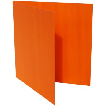 1-Quadratische Klappkarte zum selbst Beschriften in Mandarine von der Größe 135 x 135 mm 13,5 x 13,5 cm Grammatur: 300 g/m²