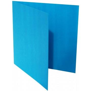 1-Quadratische Klappkarte zum selbst Beschriften in Ozean Blau der Größe 140 x 140 mm 14 x 14 cm Grammatur: 300 g/m²