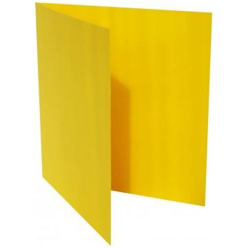 1-Quadratische Klappkarte zum selbst Beschriften in Intensiv Gelb der Größe 140 x 140 mm 14 x 14 cm Grammatur: 300 g/m²