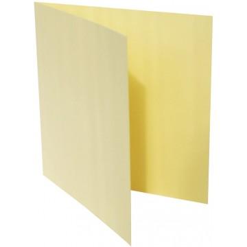 1-Quadratische Klappkarte zum selbst Beschriften in Hell Gelb der Größe 155 x 155 mm 15,5 x 15,5 cm Grammatur: 300 g/m²
