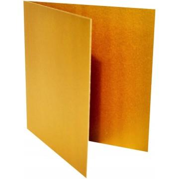 1-Quadratische Klappkarte zum selbst Beschriften in Gold Metallic der Größe 155 x 155 mm 15,5 x 15,5 cm Grammatur: 300 g/m²