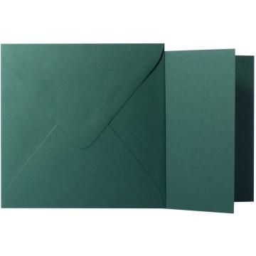 1 Briefumschlag Tannen Grün  Größe 15,5 X 15,5 cm 120g + Klappkarte 300g Größe 15 X 15 cm,