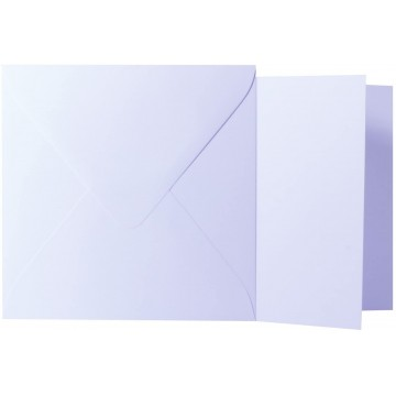 1 Briefumschlag Weiß Größe 16 X 16 cm 120g + Klappkarte 300g Größe 15,5 X 15,5 cm,