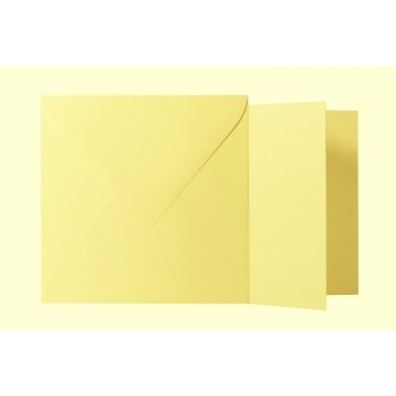 1 Briefumschlag Hell Gelb Größe 16 X 16 cm 120g + Klappkarte 300g Größe 15,5 X 15,5 cm,