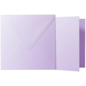 1 Briefumschlag Flieder  Größe 13 X 13 cm 120g + Klappkarte 300g Größe 12,5 X 12,5 cm,