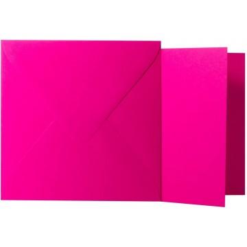 1 Briefumschlag Pink  Größe 13 X 13 cm 120g + Klappkarte 300g Größe 12,5 X 12,5 cm,