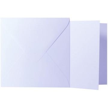 1 Briefumschlag Weiß Größe 11 X 11 cm 120g + Klappkarte 300g Größe 10,5 X 10,5 cm,