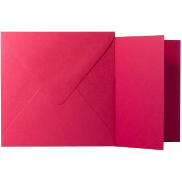 1 Briefumschlag Rosen Rot Größe 11 X 11 cm 120g + Klappkarte 300g Größe 10,5 X 10,5 cm,