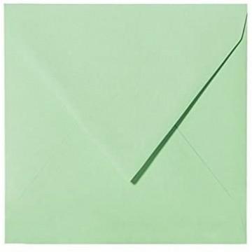 1 Briefumschlag 13,0 x 13,0 cm 130 x 130 mm Minze Verschluss: feuchtklebend