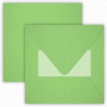 1 Briefumschlag 15 x 15 cm 150 x 150 mm Ozean Blau Verschluss: Kuverts mit Haftstreifen Grammatur: 120 g/m²