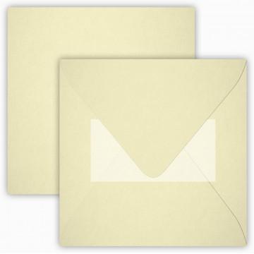 1 Briefumschlag 15 x 15 cm 150 x 150 mm Weiß Verschluss: Kuverts mit Haftstreifen Grammatur: 120 g/m²