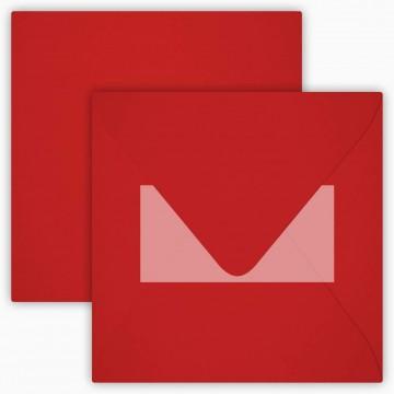1 Briefumschlag 15 x 15 cm 150 x 150 mm Rosen Rot Verschluss: Kuverts mit Haftstreifen Grammatur: 120 g/m²