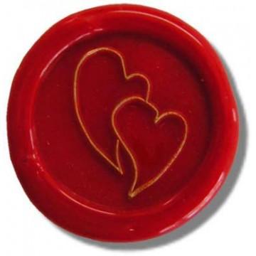 Siegelstempel verliebte Herzen 24 mm