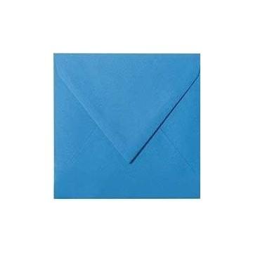 1- Briefumschlag 14,5 x 14,5 cm 145 x 145 mm Dunkel Blau gerippt mit Innenfutter ( Weiß ) Verschluss: feuchtklebend  100 g/m²