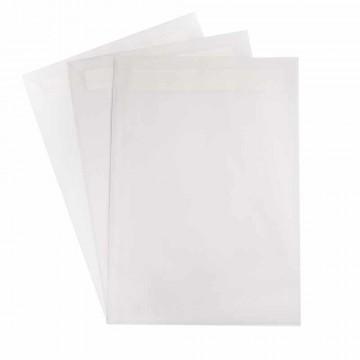 1 Versandtasche  Transparent DIN C4  120 g/m² - 229 x 324 mm 22,9 x 32,4 cm - selbstklebend mit Abziehstreifen - mit Fenster