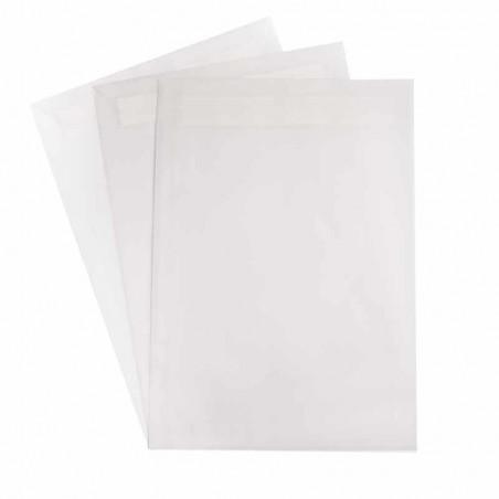 1 Versandtasche  Transparent DIN C4  120 g/m² - 229 x 324 mm 22,9 x 32,4 cm - selbstklebend mit Abziehstreifen - ohne Fenster