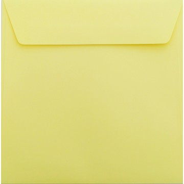 1 Briefumschlag 17 x 17 cm 170 x 170 mm Hell Gelb Verschluss: Kuverts mit Haftstreifen