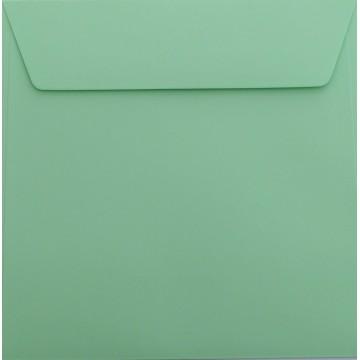 1 Briefumschlag 17 x 17 cm 170 x 170 mm Minze Verschluss: Kuverts mit Haftstreifen