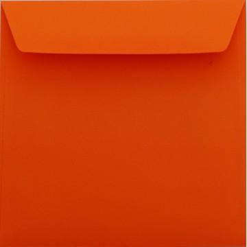 1 Briefumschlag 17 x 17 cm 170 x 170 mm Mandarine Verschluss: Kuverts mit Haftstreifen