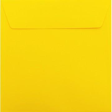 1 Briefumschlag 17 x 17 cm 170 x 170 mm Intensiv Gelb Verschluss: Kuverts mit Haftstreifen