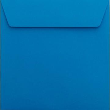 1 Briefumschlag 18 x 18 cm 180 x 180 mm Blau Verschluss: Kuverts mit Haftstreifen