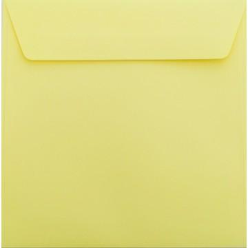 1 Briefumschlag 18 x 18 cm 180 x 180 mm Hell Gelb Verschluss: Kuverts mit Haftstreifen