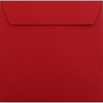 1 Briefumschlag 18 x 18 cm 180 x 180 mm Rosen Rot Verschluss: Kuverts mit Haftstreifen