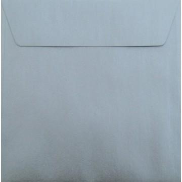 1 Briefumschlag 18 x 18 cm 180 x 180 mm Silber Verschluss: Kuverts mit Haftstreifen