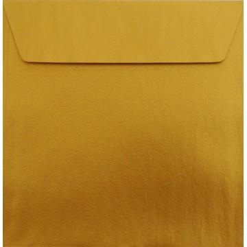 1 Briefumschlag 18 x 18 cm 180 x 180 mm Gold Verschluss: Kuverts mit Haftstreifen