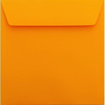 1 Briefumschlag 17 x 17 cm 170 x 170 mm Orange Verschluss: Kuverts mit Haftstreife