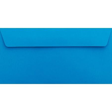 1 Briefumschlag Blau Din lang 11 x 22 cm mit Haftstreifen