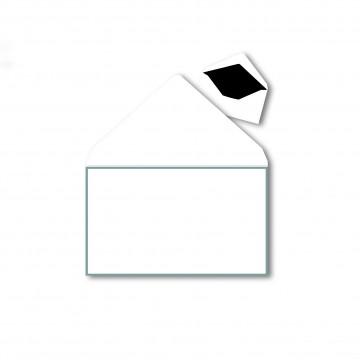 1 Trauerumschlag120 x 175 mm Polar Weiß mit Schwarzen Rahmen für Beerdigung, Danksagung