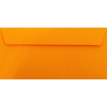1 Briefumschlag Orange Din lang 11 x 22 cm mit Haftstreifen