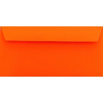 1 Briefumschlag Mandarine Din lang 11 x 22 cm mit Haftstreifen